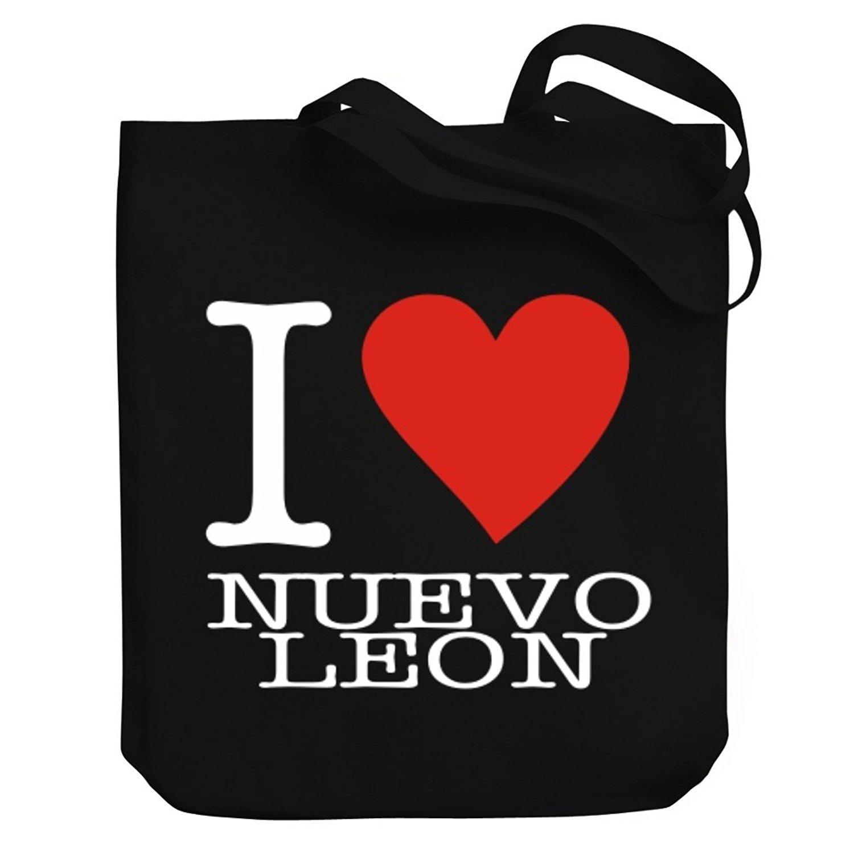 Get Quotations · Teeburon I Love Nuevo Leon Canvas Tote Bag e37230e549e