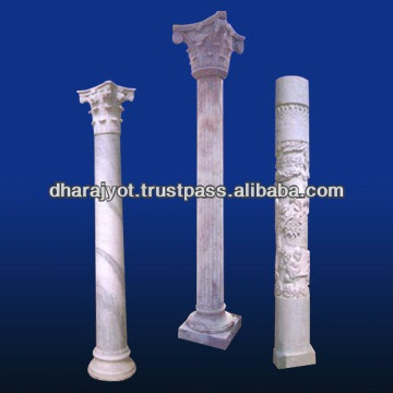 white marble carving capital column designing