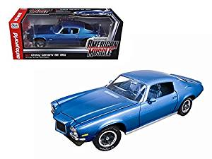 1971 Chevrolet Camaro SS350 SS 350 Mulsanne Blue 4spd L48 Turbo Limited to 1250pc 1/18 Model Car by Autoworld