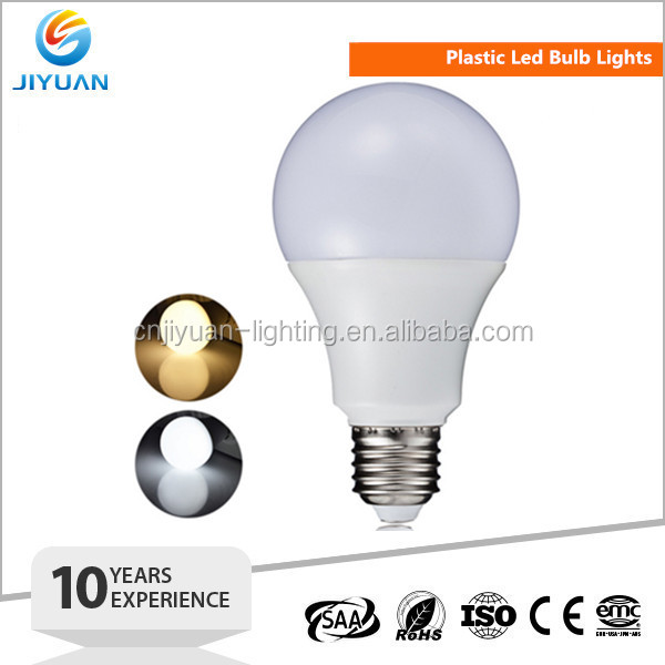 7W led bulb plastic e27 Globe Ball Spot Lamp Light Bulb A Shape Home Light