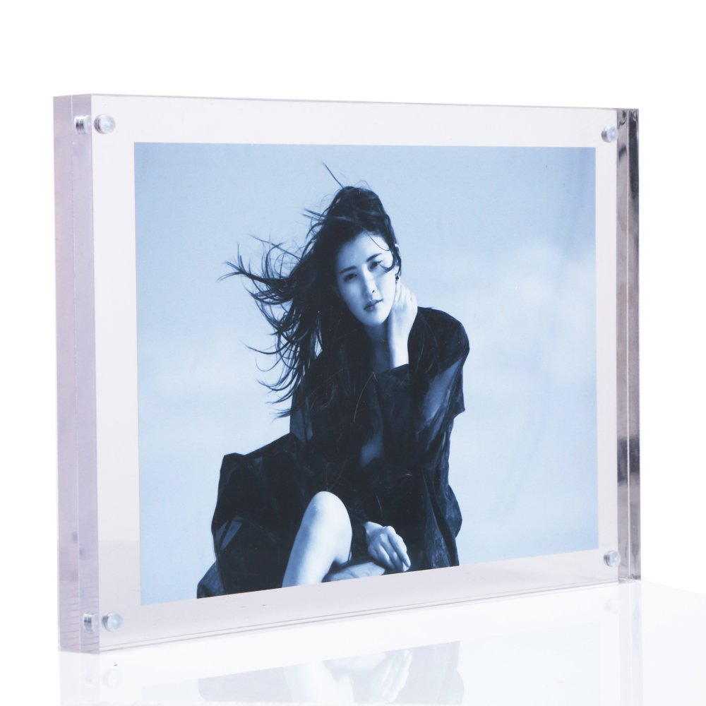 6x8 Clear Acrylic Photo Frames-made to display 6x8,5x7 ,5x5 ,4x6 Inches Picture- Magnetic Table Top Picture Frames