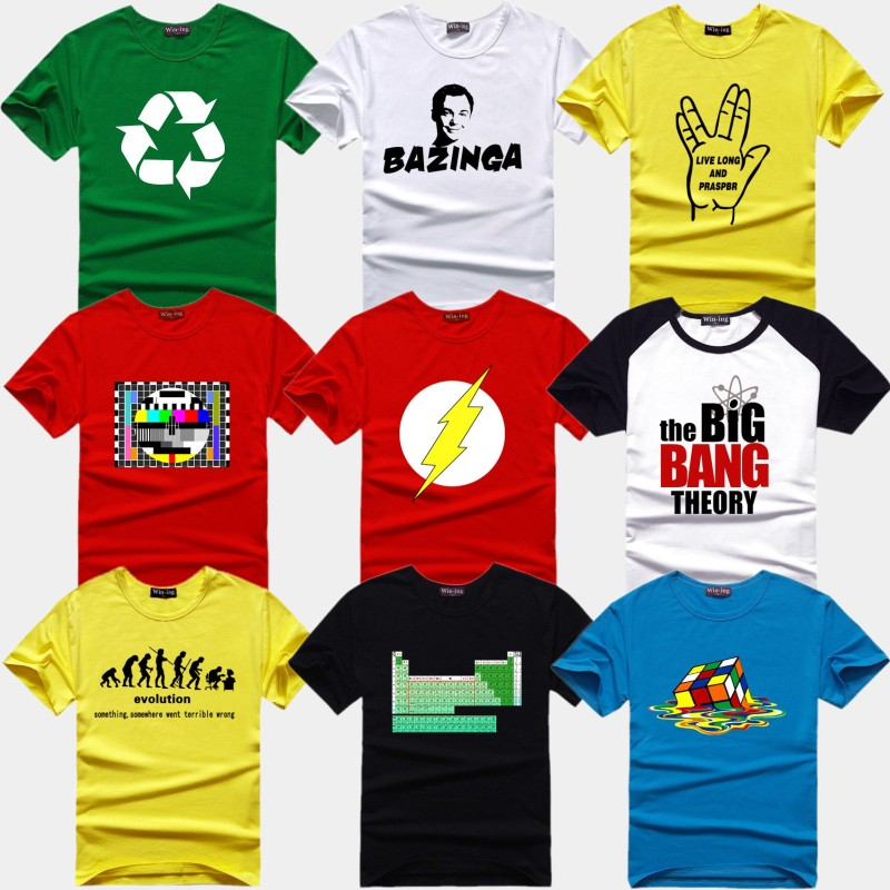 anime the big bang theory t shirt sheldon men short. Black Bedroom Furniture Sets. Home Design Ideas