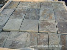 natural rusty slate tumbled patio paving tiles 0011