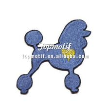 Custom embroidered name patches cheap poodle patches