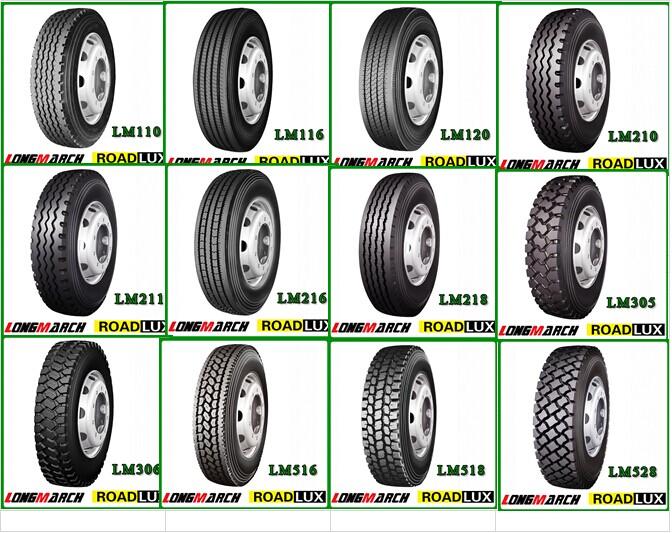 Longmarch/ Roadlux Tires Truck 11r22.5 11r24.5 295/75r22.5 385 ...