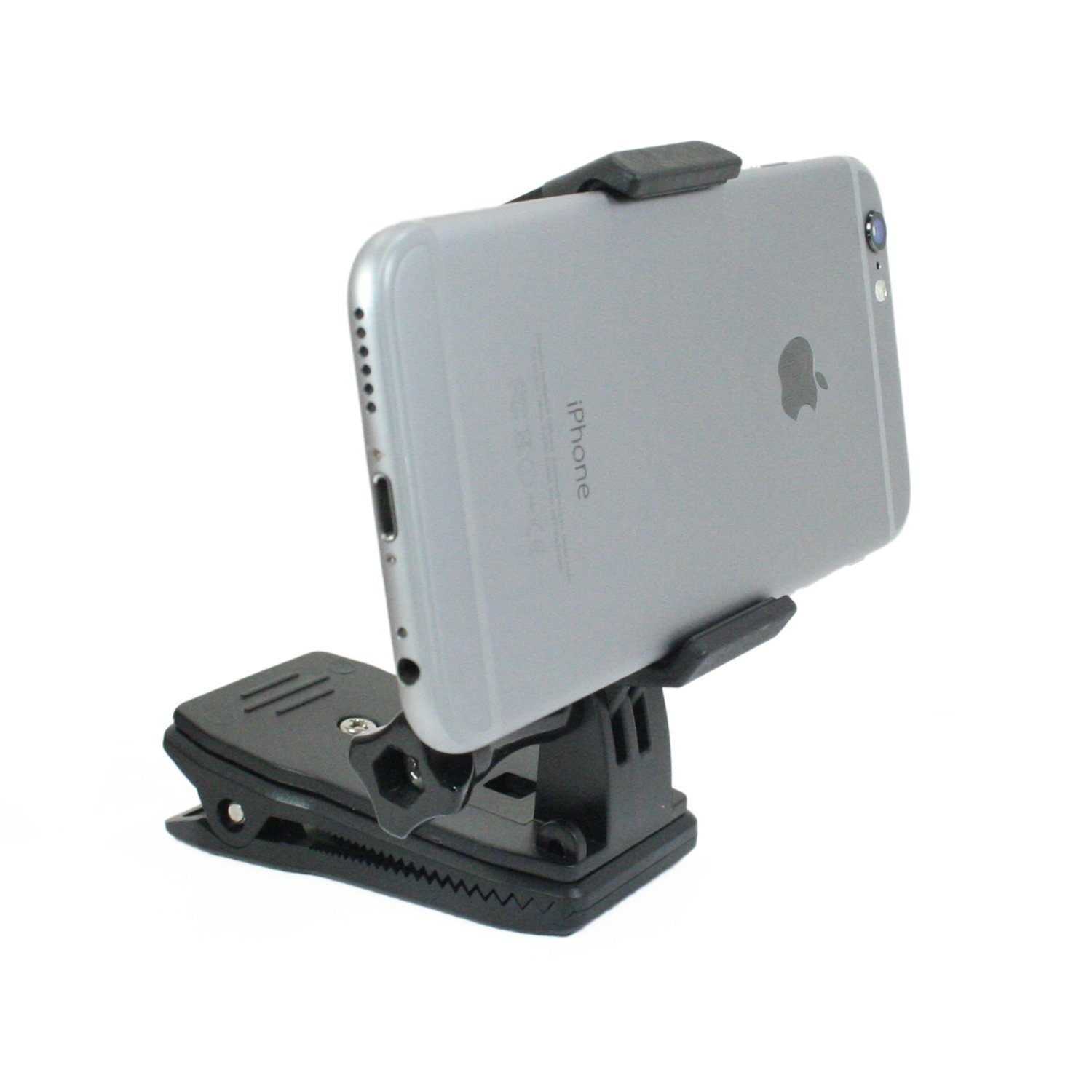 Livestream Gear® - Backpack Clip Mount with Locking Phone Clamp. Great Mount for Smartphone, or GoPro Camera. Use for Live Streaming, or Video Recording. (Clip & Phone Clamp)