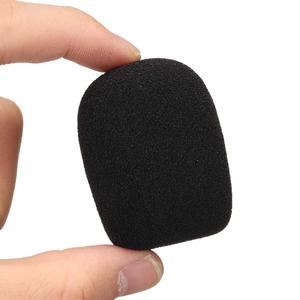 a pair comfortable and soft Microphone Foam Windscreen Cover Round Ball Sponge