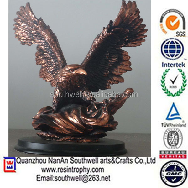 hot sale custom design large resin garden outdoor eagle statues