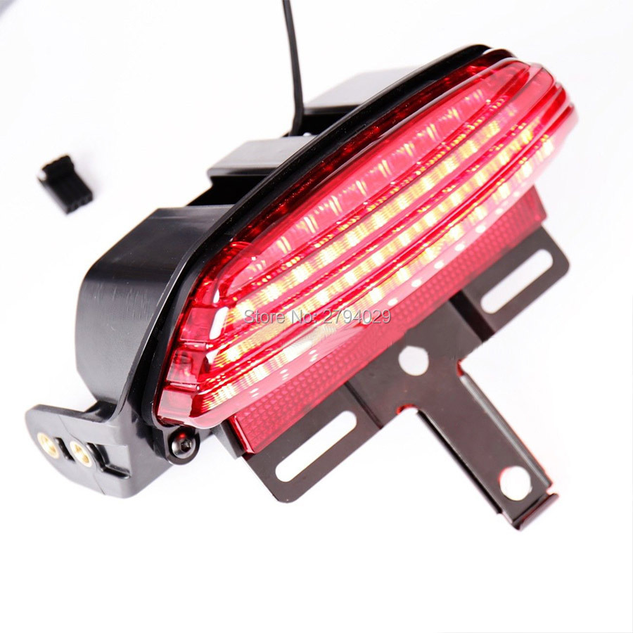 2019 Red Tri Bar Fender Led Tail Light Bracket For 06 Up