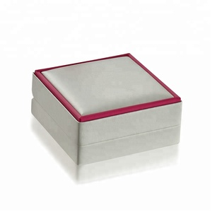 Two Tone PU Gift Box wtih Silk Fabric Trim Factory price Jewelry Box