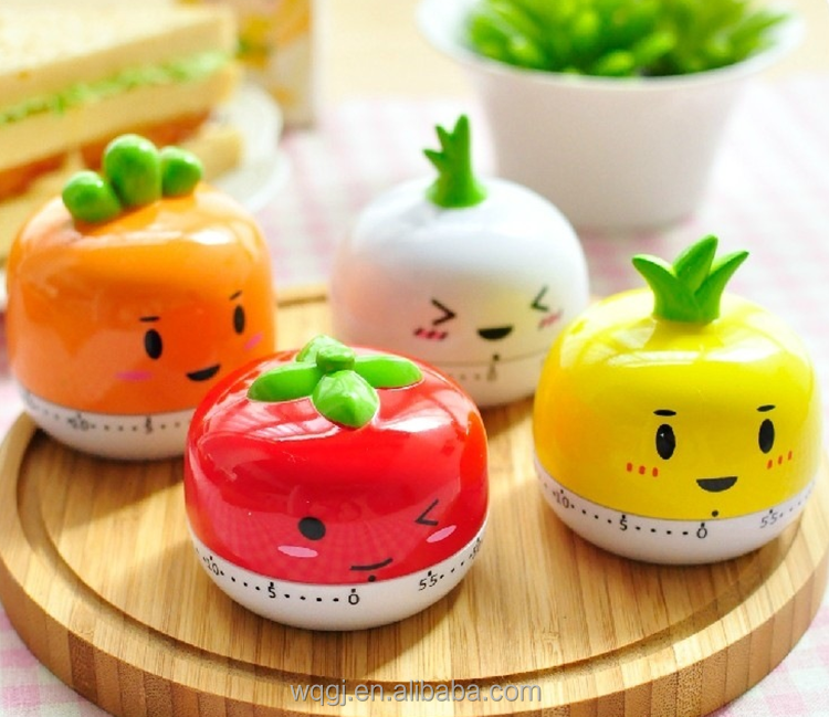 Cartoon Vegetable Shape Kitchen Cooking Timer 60 Minutes Mechanical Movement Timer Cute Kitchen Timer