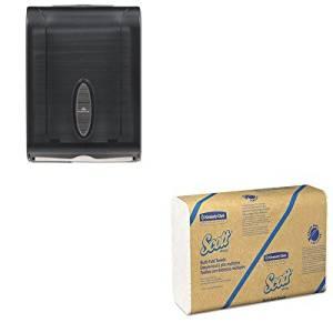 KITGEP5665001KIM01807 - Value Kit - Kimberly Clark 01807 Scott 100% Recycled Fiber Multi-Fold Towels (KIM01807) and GP 566-50/01 Translucent Smoke Combination C-Fold or Multifold Paper Towel Dispenser (GEP5665001)