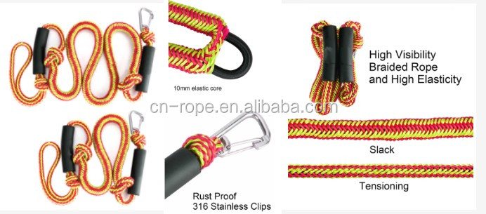 yacht line rope boat bungee cord mooring bungee dock line