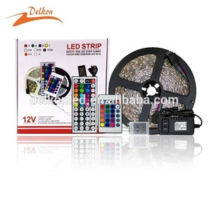5M/Box IP20/IP65 Waterproof 44 Keys IR Remote Controller SMD 5050 150LEDS RGB Strip Kit for Decorative Lighting