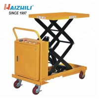 Mini movable trolley 500kg electric scissor lift work table