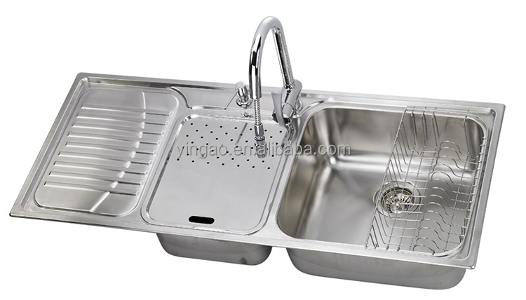 Professional brushed surface finish OEM design UPC stainless steel kitchen sinks