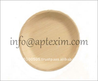 Biodegradable Areca Leaf Plates made with 100% areca leaves from India