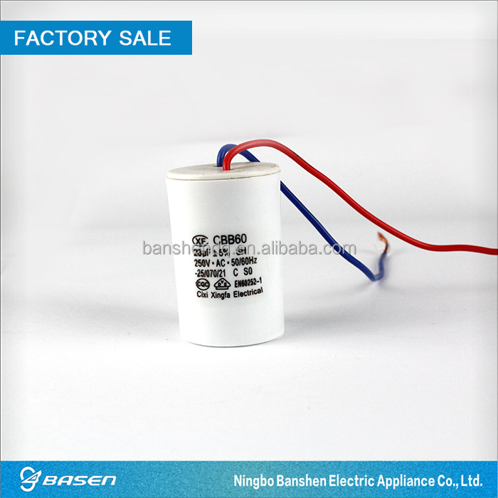 Washing machine parts 250v ac motor run capacitor 20uf