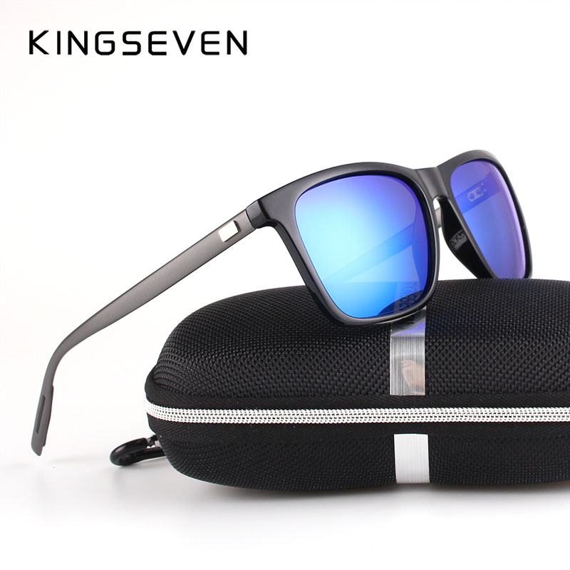 43c882fe95 KINGSEVEN New Fashion Brand Designer Aluminum TR90 Sunglasses Polarized  Mirror lens Male oculos Sun glasses Eyewear