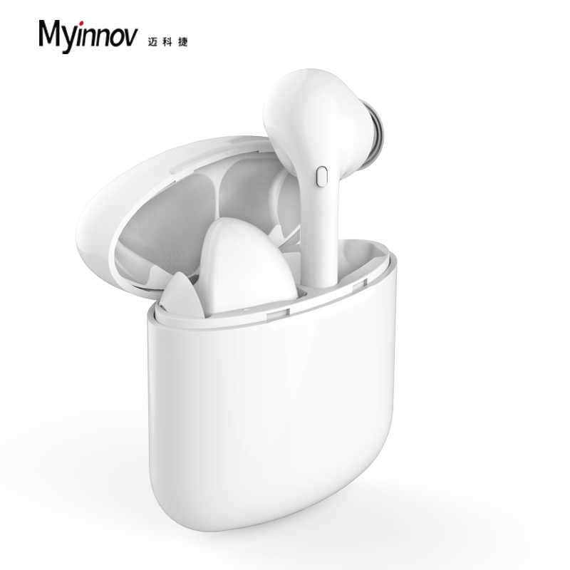 TWS true stereo mini speaker BT music blue-tooth wireless mp3 player earphones for sports