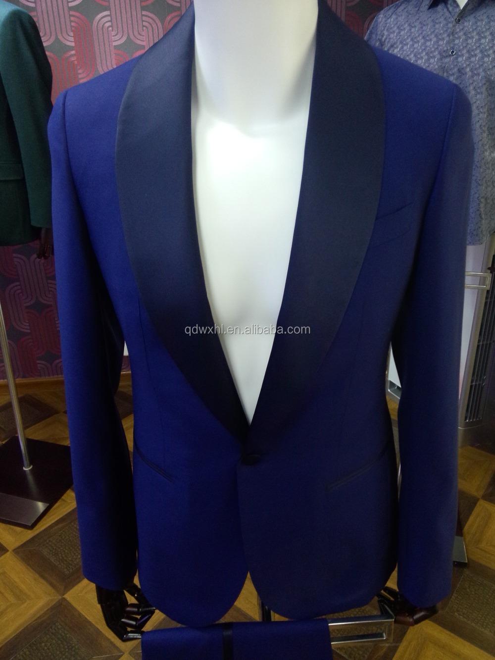 Fashion Latest Coat Pant Designs Mens Tailored 100 Wool Satin Lapel