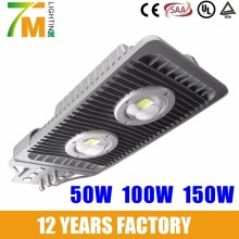 55W 100W 150W waterproof IP65 cob LED street light with CQC CB CE SAA UL standard