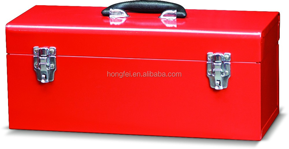 spot weld 18 inch cheap metal heavy duty roller steel tool box with 5 trays