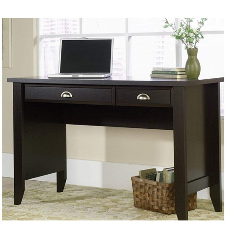 Computer Desk with Keyboard Tray in Dark Brown Mocha Espresso Wood Finish Computer Desk Keyboard Tray Flash Furniture Glass Pull Out Black And Mouse Svitlife