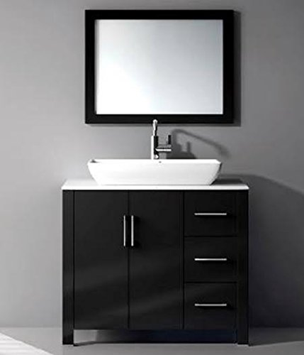 Get Quotations · 36 In Single Vanity Cabinet With Ceramic Sink Combo Set
