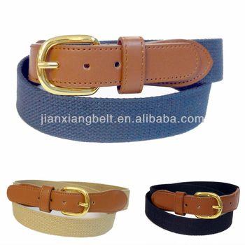 5c85cca1d4 Men's Belt Marine Boat Cotton Web Canvas Leather Belt Wholesale BW8002N