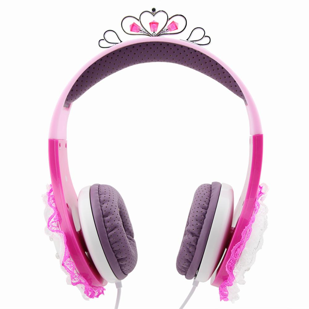 Cute Girls' Kids Headphones Non-Foldable Durable Comfortable Kids Safe 93DB Volume Limiting Headphones
