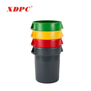 Eco friendly design plastic kitchen waste garbage container bins 13 gallon trash can with lid
