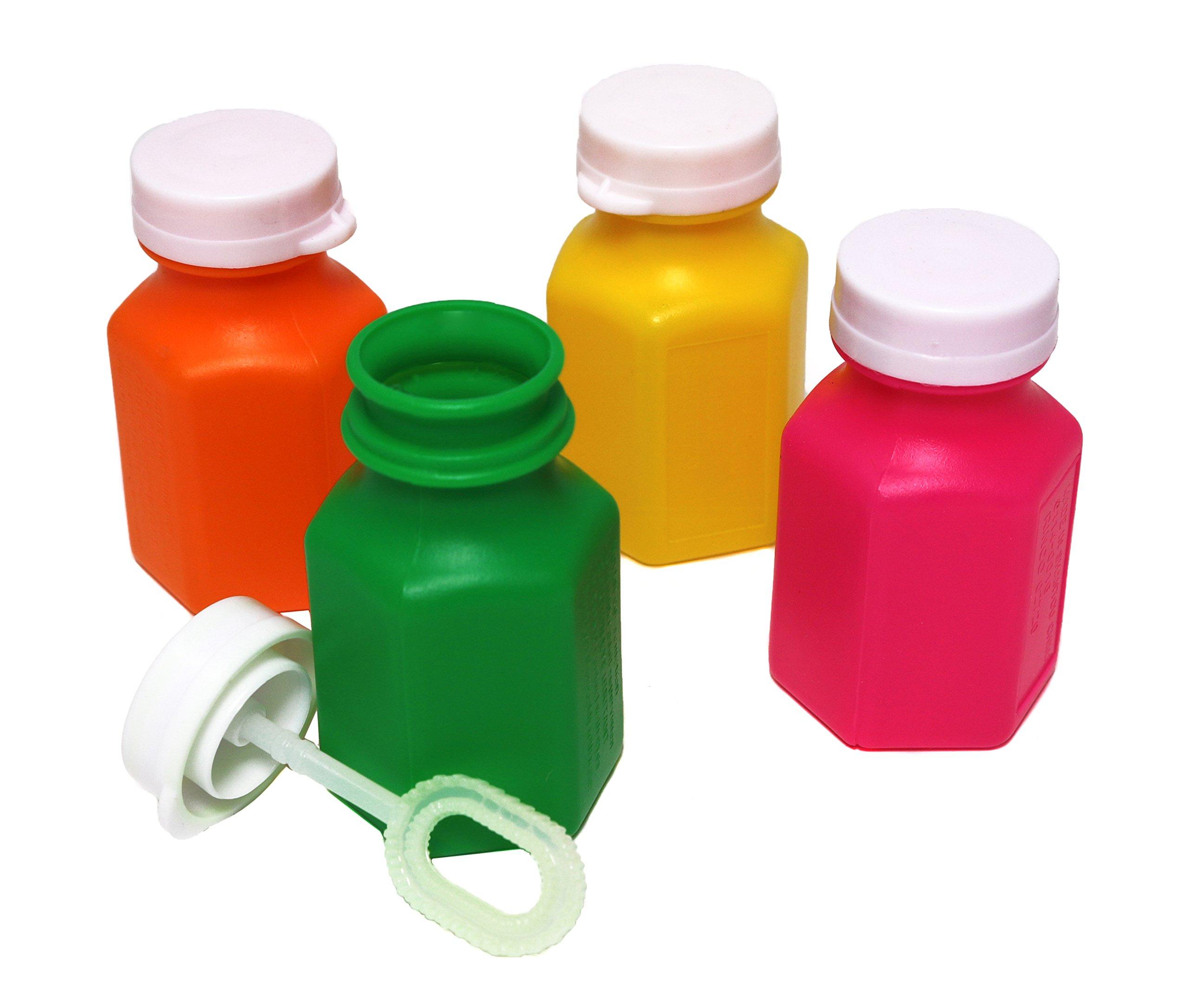 SNInc. Neon Bubble Bottles - Pack of 24 Party Bubbles