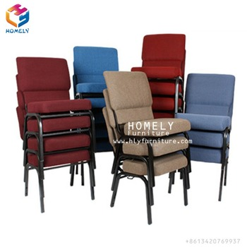 Strong Quality Cheap Used Seating Interlocking Red Blue Church