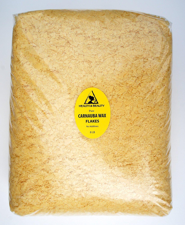 Carnauba Wax Organic Flakes Brazil Pastilles Beards Premium Prime Grade A 100% Pure 8 LB