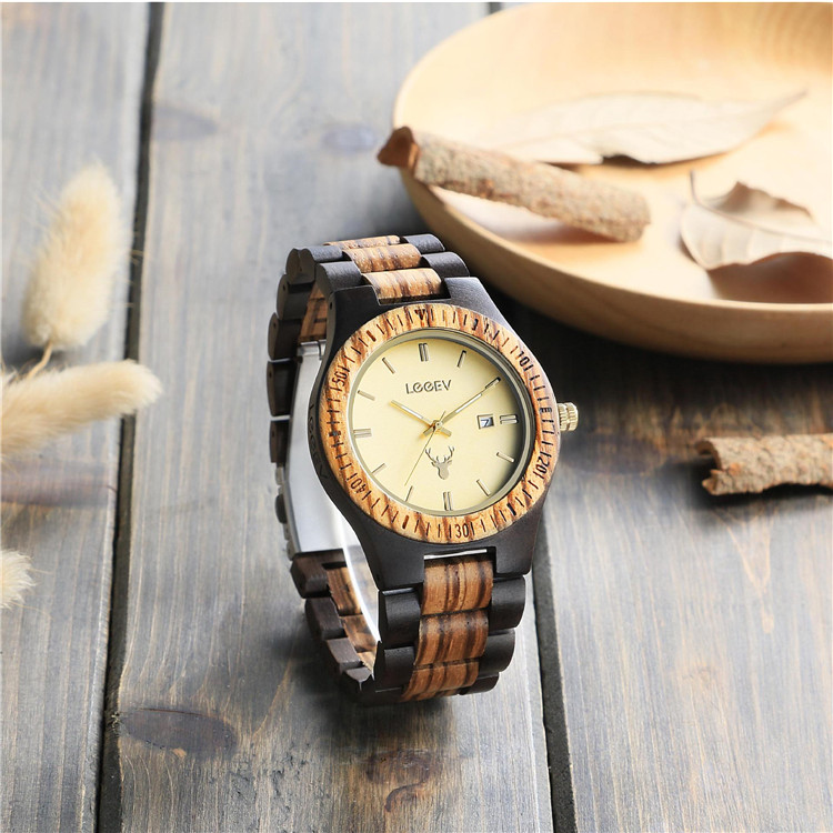 Custom Private Label Handmade Sandalwood Watch Wholesale Quartz Wood Watch Relogio Feminino