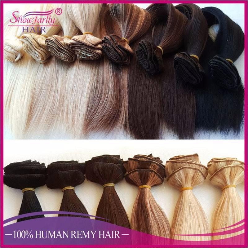 Russian Hair Remy Clip In Extensions On Meter Piano Color Double Weft