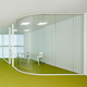 Tempered office internal glass partition doors design frameless glass wall