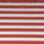 Custom no moq digital printed spandex red and white stripe fabric