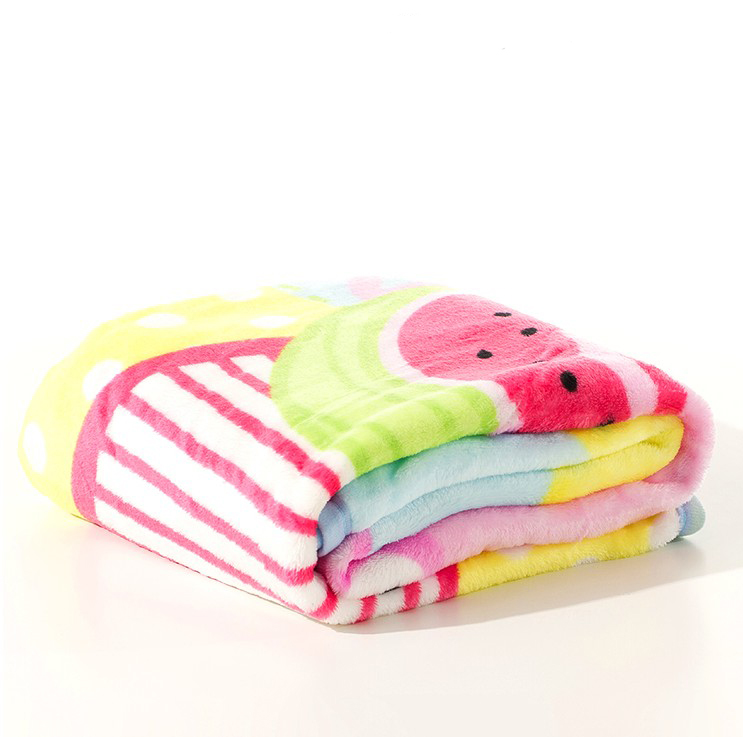 Heat transfer rotary printing printed coral fleece baby 100%polyester super soft flannel fleece blanket bedsheet