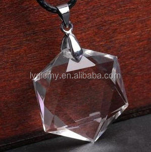 High quality natural crystal jewlery pendant faceted crystal pendant