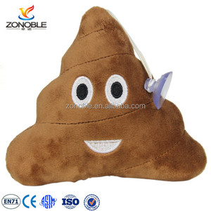 Customs stuffed soft emoji keychain popular cheap mini pillow stuffed plush custom whatsapp poop emoji keychain