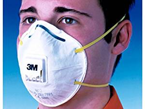 3M cup shape FFP1 dust and mist respirator complete with valve, BOX of 10