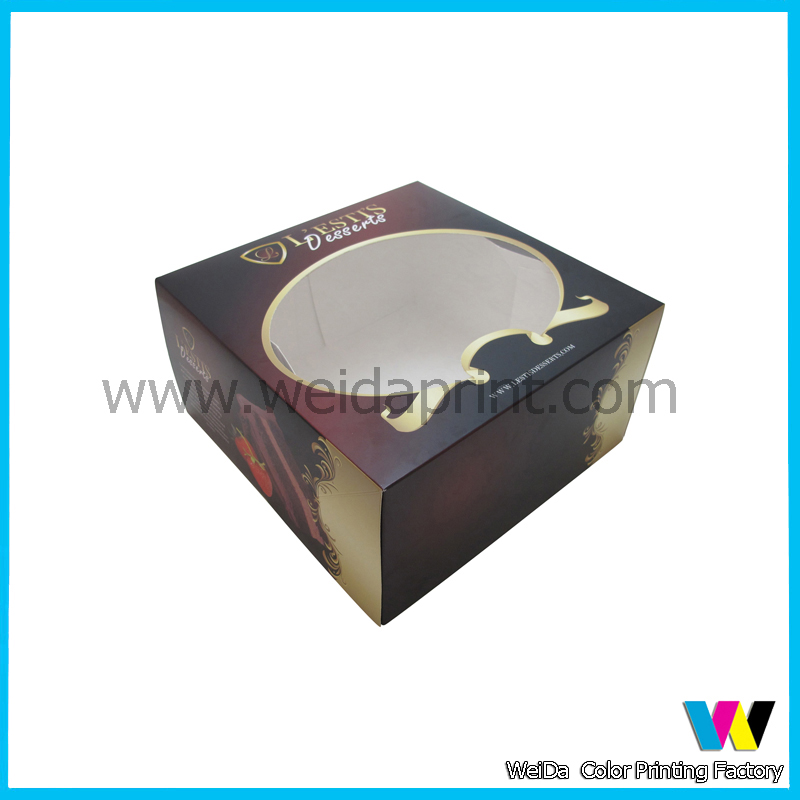2016 Custom Paper box for desserts packaging