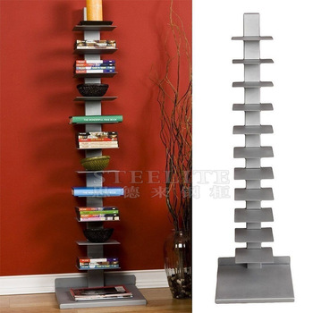 Invisible Furniture Tall Book Tower Spine Vertical Bookshelf Short Long Bookcase With Shelves