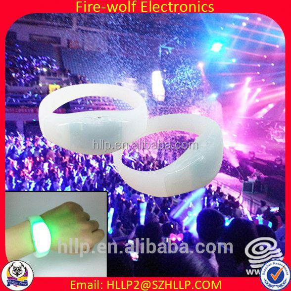 China Wholesale Party festival gay wedding gifts,remote control led flashing wristband