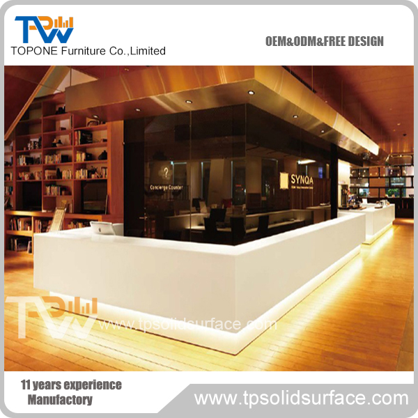Simple design reception furniture office / hotel / salon artificial marble reception desk