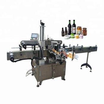 automatic round bottle sticker labeling machine for round bottles with printer