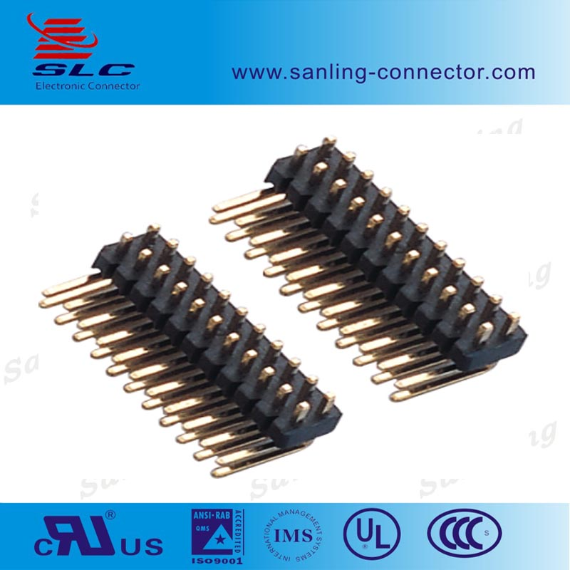 0.8mm 1,0 1.27 2.0 2.54 3.96 5.08 Pitch single/ dual row smt U R/S type pin header,