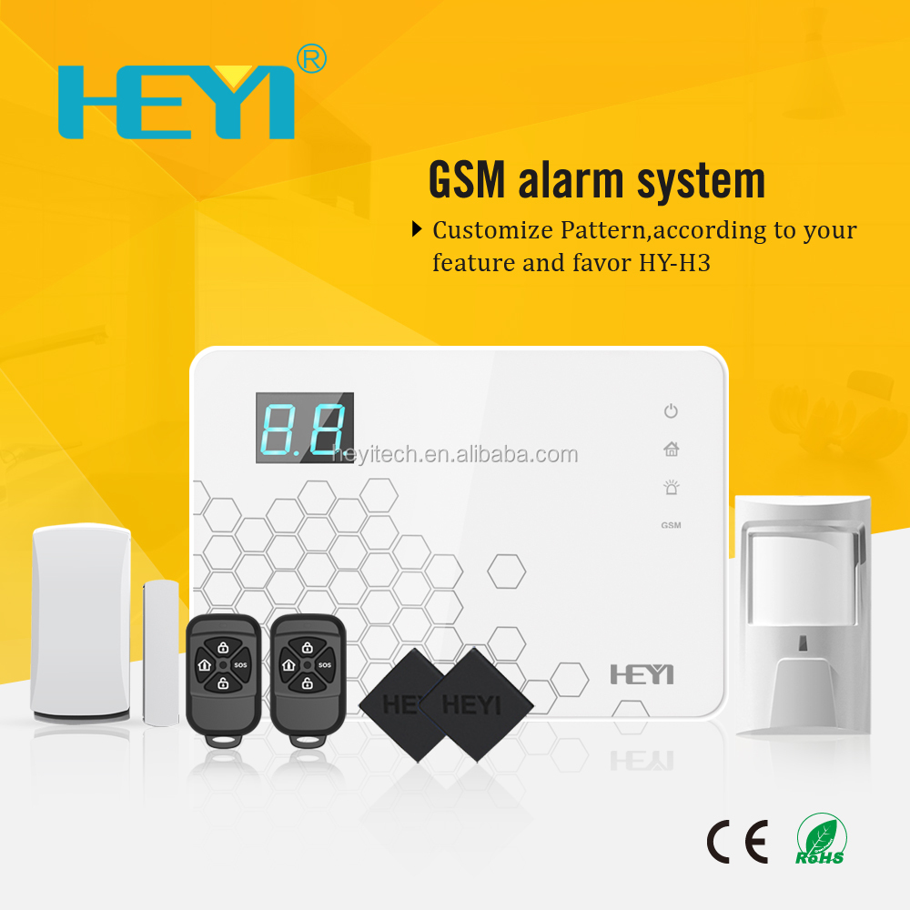 New Wireless Wired GSM Home Security System LCD Burglar Fire Alarm House Auto Dialer with Smoke Detector